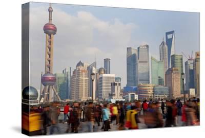 Crowds on the Bund, Shanghai, China