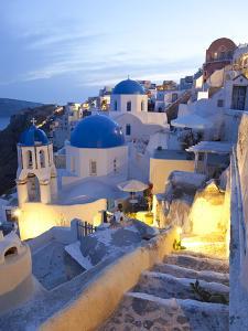 Dusk, Oia, Santorini, Cyclades Islands, Greece by Peter Adams