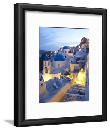 Dusk, Oia, Santorini, Cyclades Islands, Greece