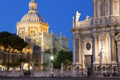 Exterior View of the Sant Agata Cathedral, Catania, Sicily, Italy