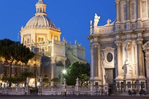 Exterior View of the Sant Agata Cathedral, Catania, Sicily, Italy by Peter Adams