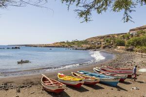 Fishing Boats on Beach, Cidade Velha, Santiago Island, Cape Verde by Peter Adams