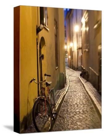 Historic Old Street in Gamla Stan (Old Town) in Stockholm, Sweden