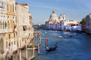 Italy, Venice, View of the Grand Canal from the Ponte Dell'Accademia by Peter Adams