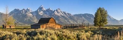 John Moulton Historic Barn, Mormon Row, Grand Teton National Park, Wyoming, Usa by Peter Adams