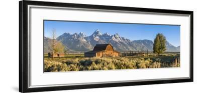 John Moulton Historic Barn, Mormon Row, Grand Teton National Park, Wyoming, Usa