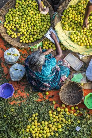 Lemon Seller, K.R. Market, Bangalore (Bengaluru), Karnataka, India
