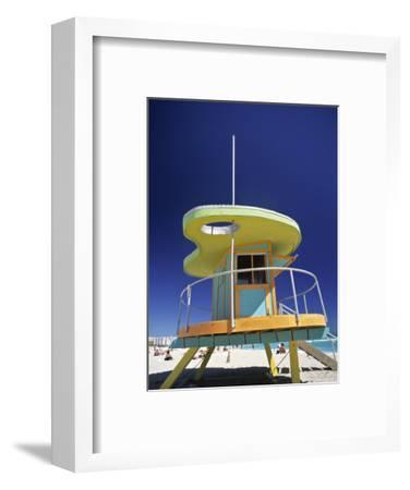 Lifeguard Station at Miami Beach, Florida, USA