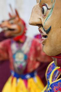 Masked Dancer, Tshechu Festival, Wangdue Phodrang Dzong Wangdi, Bhutan by Peter Adams
