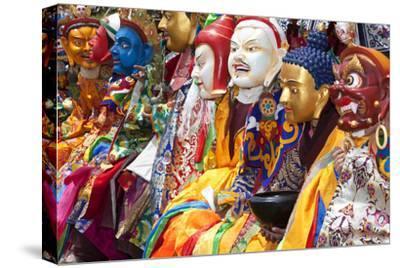 Masked Dancers at Festival, Keno Gompa Monastery, Tagong, China