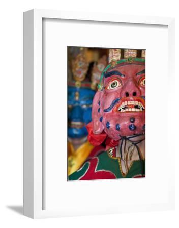 Masked Dancers at Tibetan Buddhist Monastery, Xinglong, Sichuan, China