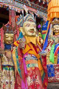 Masked Dancers at Wachuk Tibetan Buddhist Monastery, Sichuan, China by Peter Adams