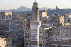 Mosque Tower and Skyline, Sana'a, Yemen by Peter Adams