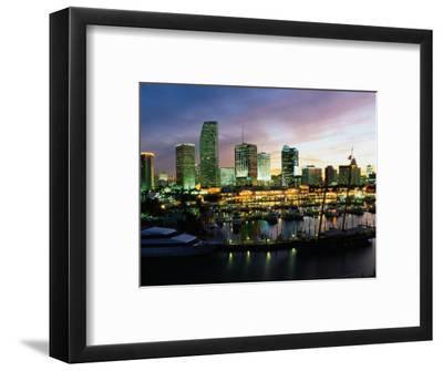Night Skyline of Miami, Florida
