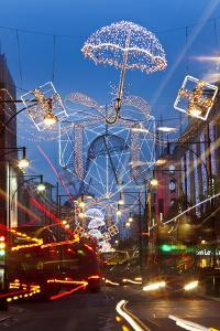 Oxford Street and Christmas Lights, London, UK by Peter Adams