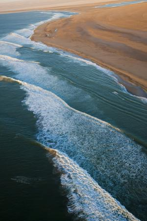 Sea and Desert, Namib Desert, Namibia, Aerial View by Peter Adams