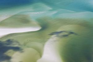 Sea and Fresh Water Covering Beach, Hill Inlet, Queensland, Australia by Peter Adams