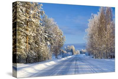 Snow Covered Road, Near Lulea, Northern Sweden