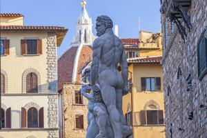 Statue of Neptune, Piazza Della Signora, Florence, Italy by Peter Adams