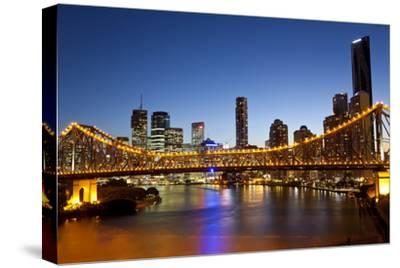 Story Bridge and Skyline Along the Brisbane River, Brisbane, Australia