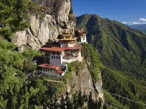 Taktsang Dzong or Tiger's Nest, Built in the 8th Century, Paro, Bhutan by Peter Adams