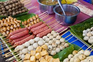 Thai Food Grill Sticks, Bangkok, Thailand by Peter Adams