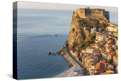 Town View with Castello Ruffo, Scilla, Calabria, Italy