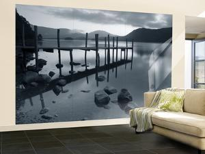 Tranquil Landscape and Pier, Derwent Water, Lake District, Cumbria, England by Peter Adams