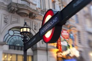 Underground Sign, Piccadilly Circus, London, UK by Peter Adams