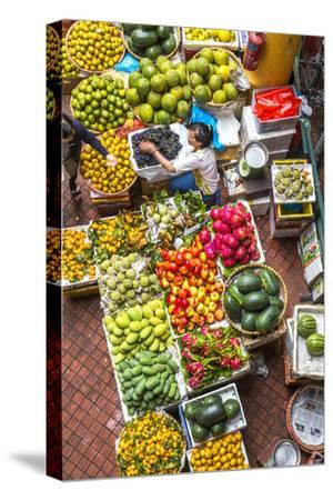 Vegetable Market in Central Hanoi, Vietnam