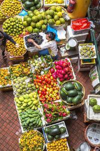 Vegetable Market in Central Hanoi, Vietnam by Peter Adams