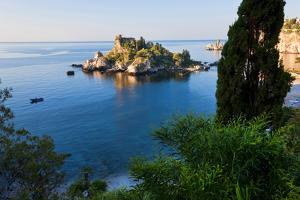 View of Isola Bella Island, Taormina, Sicily, Italy by Peter Adams