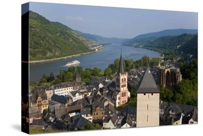View over Bacharach and River Rhine, Rhine Valley, Germany