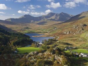 View to Llynnau Mymbyr and Mt Snowdon, North Wales by Peter Adams