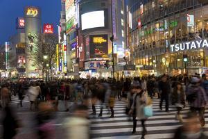 Worlds Busiest Road Crossing, Shibuya, Tokyo, Japan by Peter Adams