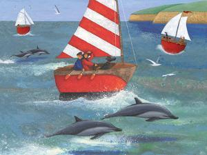 Sailing with Dolphins by Peter Adderley