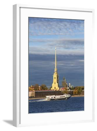 Peter and Paul Fortress on Neva Riverside, St. Petersburg, Russia-Gavin Hellier-Framed Photographic Print
