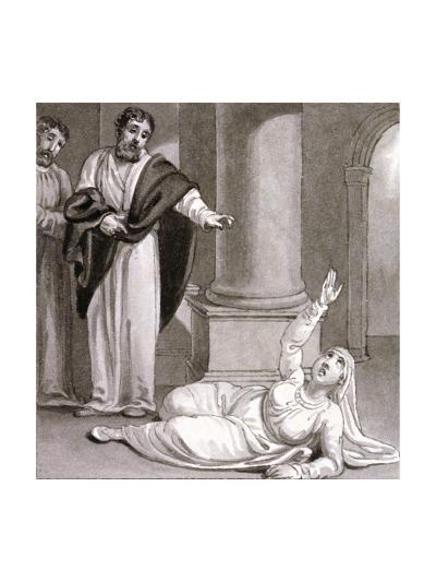 Peter and Sapphira, Wife of Ananias, C1810-C1844-Henry Corbould-Giclee Print