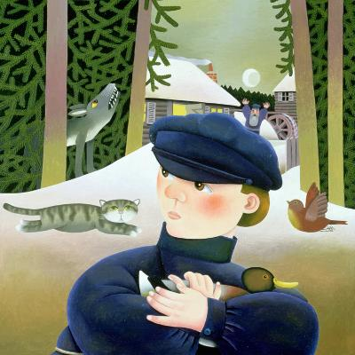 Peter and the Wolf-Reg Cartwright-Giclee Print