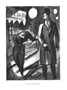 """Feelthy peectures?"" - New Yorker Cartoon by Peter Arno"