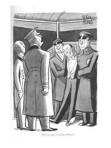 """He's not ours. Try River House."" - New Yorker Cartoon by Peter Arno"
