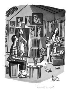 """In a minute!  In a minute!"" - New Yorker Cartoon by Peter Arno"