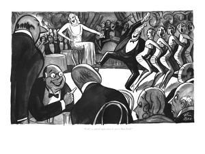 """J. G.'s a card all right when he gets to New York."" - New Yorker Cartoon by Peter Arno"