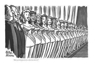 """Makes you kind of proud to be an American, doesn't it?"" - New Yorker Cartoon by Peter Arno"