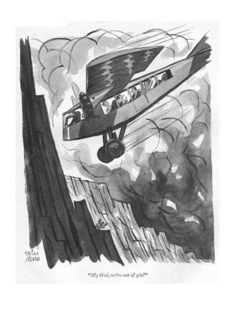 """""""My God, we're out of gin!"""" - New Yorker Cartoon"""