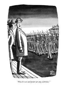 """Now be sure and point out any celebrities."" - New Yorker Cartoon by Peter Arno"