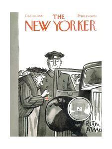 The New Yorker Cover - December 20, 1958 by Peter Arno