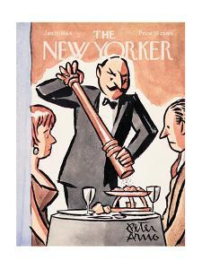The New Yorker Cover - January 18, 1964 by Peter Arno