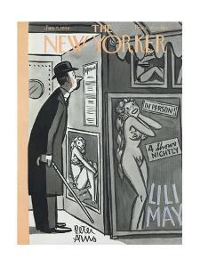 The New Yorker Cover - January 9, 1954 by Peter Arno
