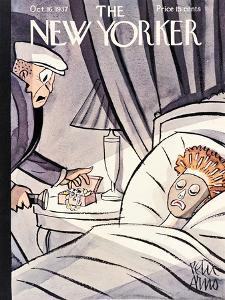 The New Yorker Cover - October 16, 1937 by Peter Arno
